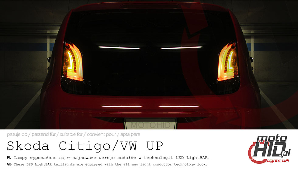 VW UP! LED TAILLAMPS