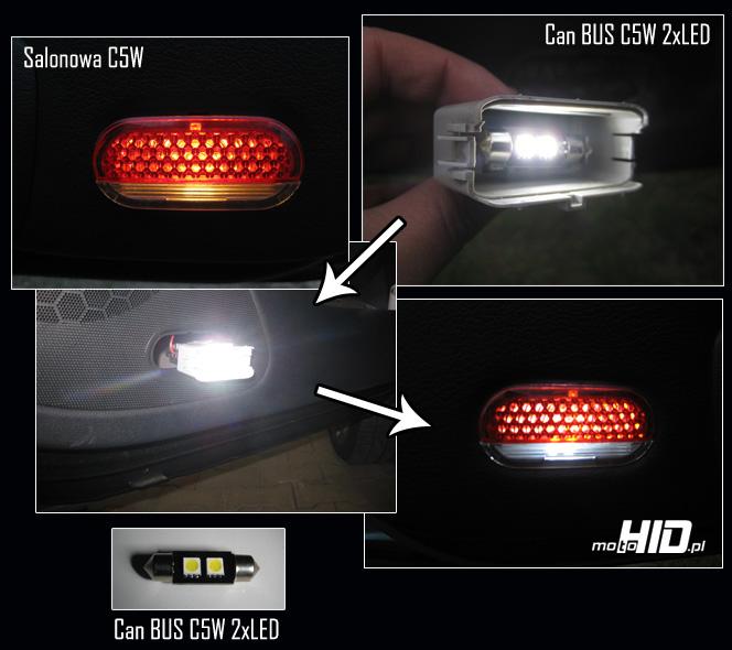 Octavia lampki w drzwiach LED